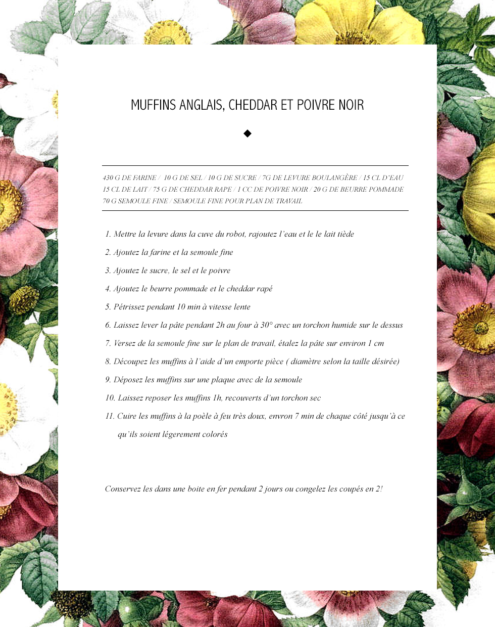 Recette Muffins Anglais2