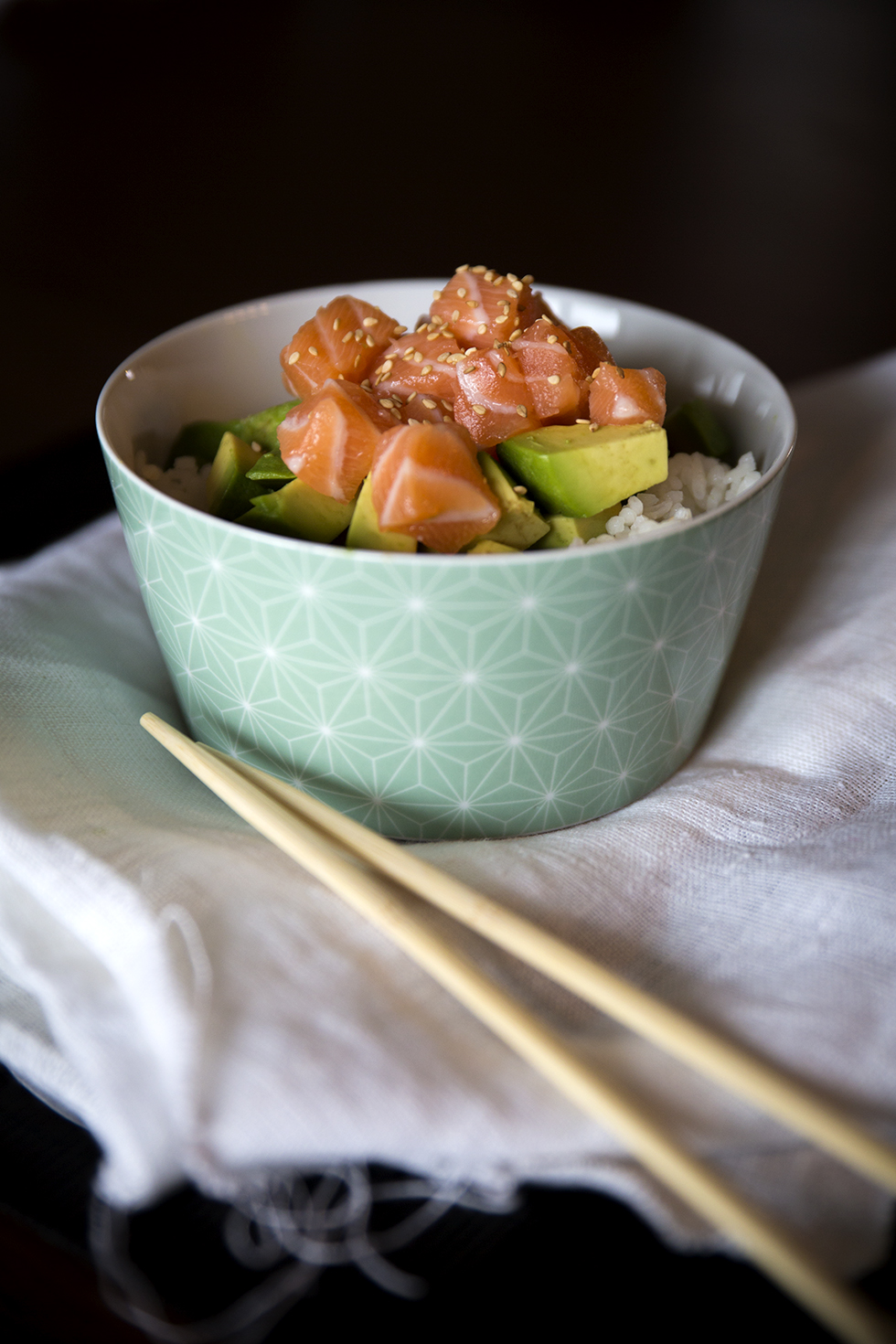 Chirashi Saumon avocat Les Bichettes photo