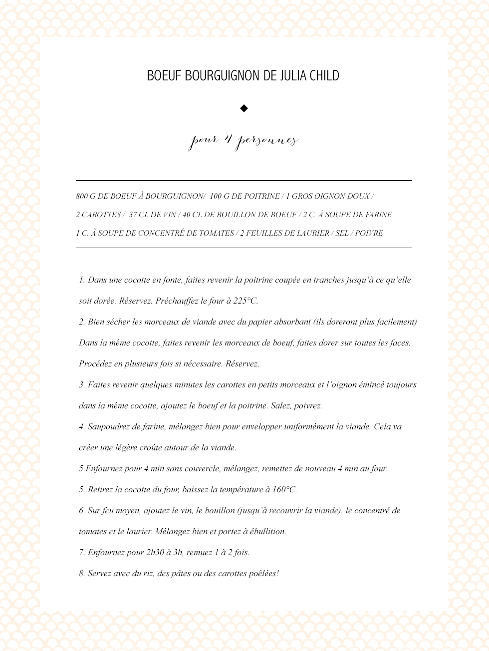 Boeuf Bourguignon de Julia Child