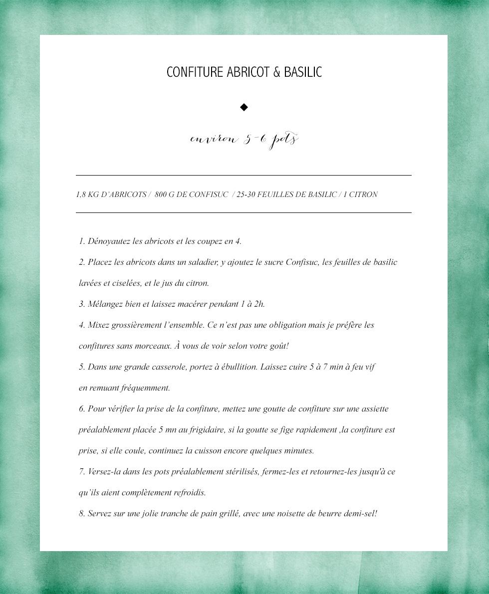 Confiture Abricot Basilic